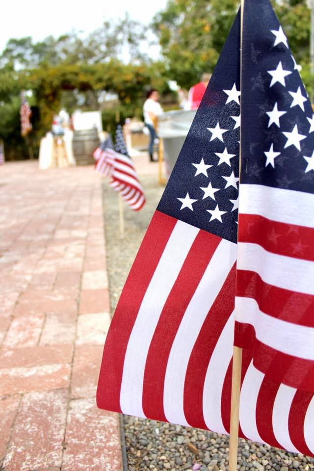 Beautiful American Flags fly at The Garden of Peacock Farms Fundraiser \u2013 Welcome Home Military Heroes